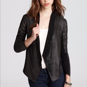 Velvet (brand) Ponte-Back Faux-Leather Jacket